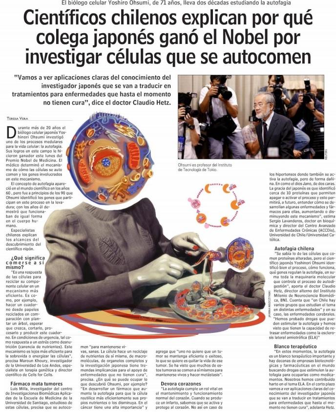 publicacion-diario-las-ultimas-noticias-premio-nobel-medicina-autofagia-dr-sergio-lavandero